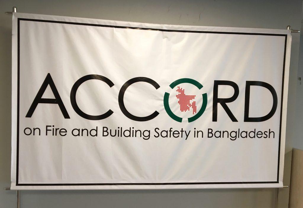 Das Accord-Logo als Flagge im ACCORD-Büro © Volker Rekittke