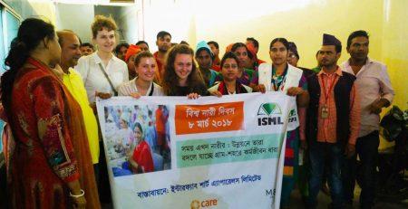 Der internationale Frauentag wurde für eine Demo in der Fabrik genutzt. Foto © Maike Vierkötter